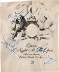 Music Memorabilia:Autographs and Signed Items, Queen Signed Advertisement for A Night at the Opera. ...