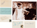 Movie/TV Memorabilia:Autographs and Signed Items, Bride of Frankenstein Cast Autograph Collection (5) (1935). ...