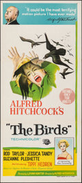 "Movie Posters:Hitchcock, The Birds (Universal, 1963). Folded, Very Fine. Australian Daybill (13.5"" X 30""). Hitchcock.. ..."