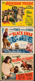 "Movie Posters:Drama, Blood and Sand & Other Lot (20th Century Fox, 1941). Overall: Fine+. Trimmed Title Lobby Cards (2) (Approx. 11"" X 13.75"") & ... (Total: 3 Items)"