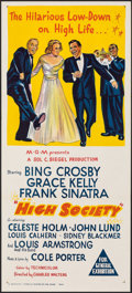 """Movie Posters:Musical, High Society (MGM, r-1960s). Folded, Very Fine/Near Mint. Australian Daybill (13.5"""" X 30""""). Musical.. ..."""