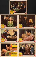 """Movie Posters:Film Noir, Johnny Eager (MGM, 1942). Fine/Very Fine. Title Lobby Card & Lobby Cards (6) (11"""" X 14""""). Film Noir.. ... (Total: 7 Items)"""