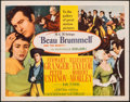 "Movie Posters:Drama, Beau Brummell & Other Lot (MGM, 1954). Folded, Very Fine. Half Sheet (22"" X 28"") & Oversize Behind the Scenes Photo (13"" X 1... (Total: 2 Items)"