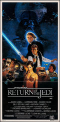 "Movie Posters:Science Fiction, Return of the Jedi (20th Century Fox, 1983). Folded, Very Fine/Near Mint. Australian Daybill (13.25"" X 26.5"") Style B, Kazuh..."