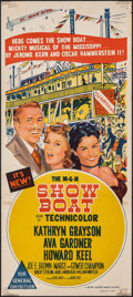 "Movie Posters:Musical, Show Boat (MGM, 1951). Folded, Fine+. Australian Daybill (13"" X 30""). Musical.. ..."