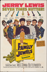 "The Family Jewels & Other Lot (Paramount, 1965). Folded, Fine+. One Sheet (27"" X 41"") & Lobby Card Set..."