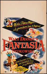 "Fantasia (Buena Vista, R-1956). Fine/Very Fine. Window Card (14"" X 22""). Animation"