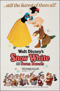 "Movie Posters:Animation, Snow White and the Seven Dwarfs (Buena Vista, R-1967). Folded, Very Fine-. One Sheet (27"" X 41""). Animation.. ..."