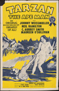 """Movie Posters:Adventure, Tarzan the Ape Man & Other Lot (MGM, R-1954). Folded, Overall: Fine/Very Fine. One Sheet (27"""" X 41"""") & Half Sheet (22"""" X 28""""... (Total: 2 Items)"""