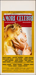 "Movie Posters:Foreign, Famous Love Affairs (Rank, 1961). Folded, Very Fine. Italian Locandina (13"" X 27.5""). Foreign.. ..."