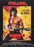 "Movie Posters:Action, Rambo: First Blood Part II (Tri-Star, 1985). Folded, Very Fine. French Grande (46"" X 62""). Action.. ..."