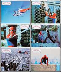 """Spider-Man (Columbia, 1978). Near Mint. French Lobby Card Set of 12 (11.25"""" X 9""""). Action. ... (Total: 12 Item..."""