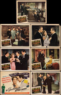 "Movie Posters:Film Noir, A Gentleman After Dark (United Artists, 1942). Fine/Very Fine. Title Lobby Card & Lobby Cards (6) (11"" X 14""). Film Noir.. ... (Total: 7 Items)"
