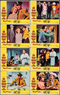 """Movie Posters:Comedy, Eight on the Lam (United Artists, 1967). Fine/Very Fine. Lobby Card Sets of 8 (2 Sets) (11"""" X 14""""). Jack Davis Border Artwor... (Total: 16 Items)"""