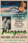 "Movie Posters:Film Noir, Niagara (20th Century Fox, 1953). Fine- on European Linen. Trimmed One Sheet (26.5"" X 39.75""). Film Noir.. ..."
