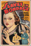 """Movie Posters:Crime, Slaves in Bondage (Roadshow Attractions, 1937). Good+ on Linen. One Sheet (27"""" X 40.5""""). Crime.. ..."""