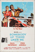 "Movie Posters:Drama, Somebody Up There Likes Me (MGM, 1956). Folded, Fine/Very Fine. One Sheet (27"" X 41""). Drama.. ..."