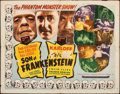 "Movie Posters:Horror, Son of Frankenstein/Bride of Frankenstein Combo (Film Classics, R-1948). Folded, Fine-. Half Sheet (22"" X 28""). Horror.. ..."