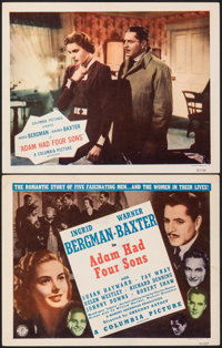 "Adam Had Four Sons (Columbia, R-1948). Very Fine. Title Lobby Card & Lobby Card (11"" X 14""). Drama. ... (T..."