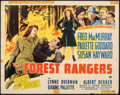 """Movie Posters:Action, The Forest Rangers (Paramount, 1942). Folded, Fine-. Half Sheet (22"""" X 28"""") Style B. Action.. ..."""