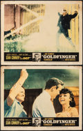 "Movie Posters:James Bond, Goldfinger (United Artists, 1964). Fine. Lobby Cards (2) (11"" X 14""). James Bond.. ... (Total: 2 Items)"