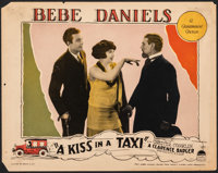 "A Kiss in a Taxi (Paramount, 1927). Fine+. Lobby Card (11"" X 14""). Comedy"