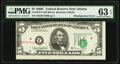 Error Notes:Miscellaneous Errors, Misaligned Face Printing Error Fr. 1972-F $5 1969C Federal Reserve Note. PMG Choice Uncirculated 63 EPQ.. ...