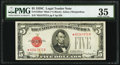 Fr. 1528* $5 1928C Mule Legal Tender Star Note. PMG Choice Very Fine 35