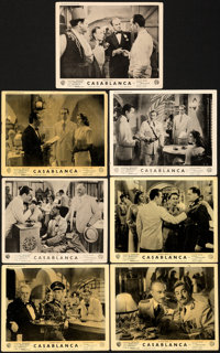 "Casablanca (Warner Bros., 1942). Very Good+. British Front of House Photos (7) (8"" X 10""). ... (Total: 7 Items..."