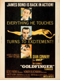 "Movie Posters:James Bond, Goldfinger (United Artists, 1964). Rolled, Very Fine-. Poster (30"" X 40"").. ..."