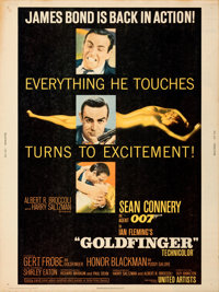 """Goldfinger (United Artists, 1964). Rolled, Very Fine-. Poster (30"""" X 40"""")"""