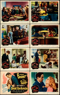 """Dead Reckoning (Columbia, 1947). Very Fine-. Lobby Card Set of 8 (11"""" X 14""""). ... (Total: 8 Items)"""