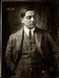 """Movie Posters:Comedy, Ernst Lubitsch (1920s). Fine. German Autographed Trimmed Photo (6.5"""" X 8.5"""").. ..."""