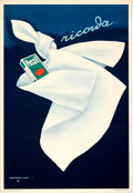 "Movie Posters:Miscellaneous, Remember...Persil (c. 1952). Very Fine- on Linen. Italian Advertising Poster (27"" X 39.25"") Marcello Dudovich Artwork.. ..."