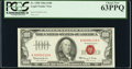 Low Serial Number 4118 Fr. 1550 $100 1966 Legal Tender Note. PCGS Choice New 63PPQ