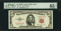 Fr. 1534* $5 1953B Legal Tender Star Note. PMG Gem Uncirculated 65 EPQ