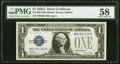Fr. 1601 $1 1928A Silver Certificate. PMG Choice About Unc 58