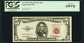Small Size:Legal Tender Notes, Fr. 1533* $5 1953A Legal Tender Star Note. PCGS Gem New 65PPQ.. ...