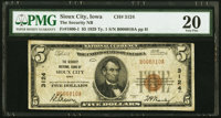 Sioux City, IA - $5 1929 Ty. 1 The Security National Bank Ch. # 3124 PMG Very Fine 20