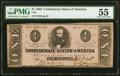 Confederate Notes:1863 Issues, T62 $1 1863 PF-1 Cr. 474 PMG About Uncirculated 55.. ...