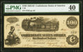 Confederate Notes:1862 Issues, T40 $100 1862 PF-1 Cr. 298 PMG Extremely Fine 40.. ...
