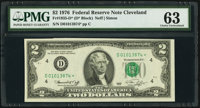 Fr. 1935-D* $2 1976 Federal Reserve Star Note. PMG Choice Uncirculated 63
