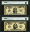 Fr. 1951-H; J $5 1928A Federal Reserve Notes. PMG Graded Choice Fine 15; Very Fine 25