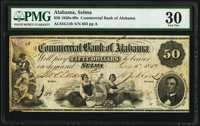 Selma, AL- Commercial Bank of Alabama $50 Oct. 3, 1859 G14b PMG Very Fine 30
