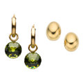 Estate Jewelry:Earrings, Peridot, Gold Earrings. ... (Total: 2 Items)