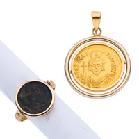 Gold Coin, Gold Jewelry ... (Total: 2 Items)
