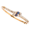 Estate Jewelry:Bracelets, Diamond, Sapphire, Gold Bracelet . ...