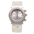 Estate Jewelry:Watches, TechnoMarine Lady's Diamond, Stainless Steel, Silicone Watch . ...