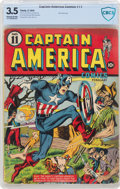 Golden Age (1938-1955):Superhero, Captain America Comics #11 (Timely, 1942) CBCS VG- 3.5 Slightly brittle pages....