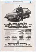 Explorers:Space Exploration, Armstrong Family Personal: 1979 Chrysler Advertisement Pro...